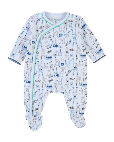 Allover Cartoon-Print Footie Pajamas  Size 3-9 Months