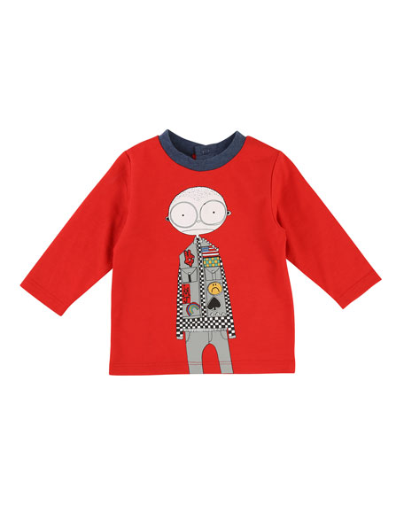 Little Marc Jacobs Mister Marc Essentials Long-Sleeve Graphic