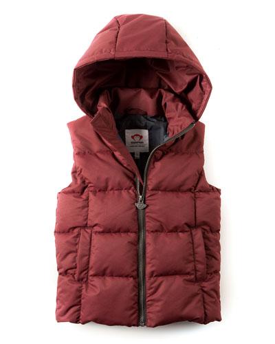 Camper Hooded Puffer Vest, Size 2-10