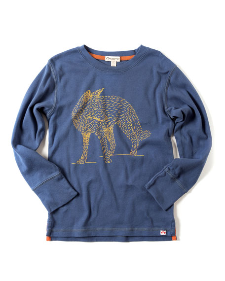 Appaman Classic Long-Sleeve Fox Tee, Size 2-10