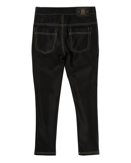 Satiny Stretch Trousers, Size 4-5