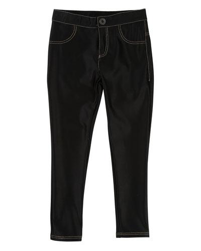 Satiny Stretch Trousers  Size 4-5