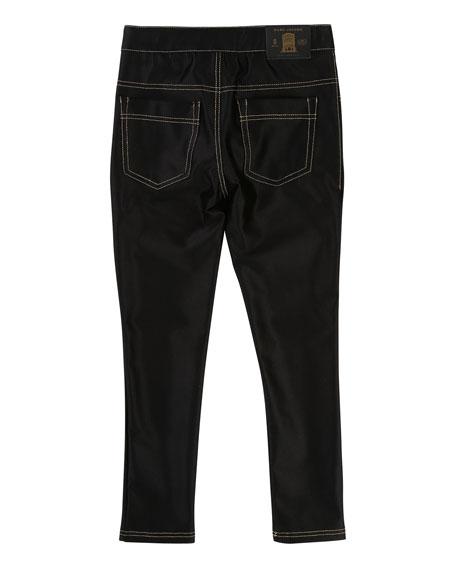 Satiny Stretch Trousers, Size 6-10