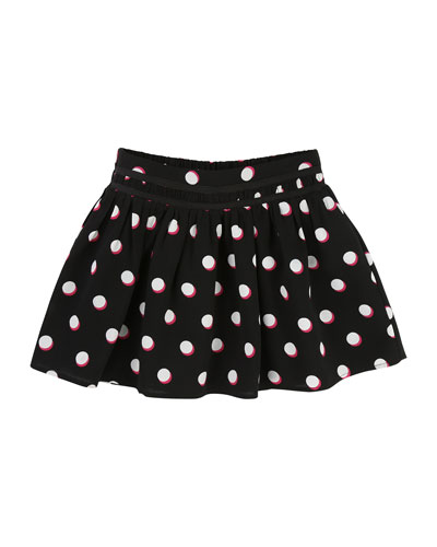 Mini Me Allover Dots Skirt, Size 4-5