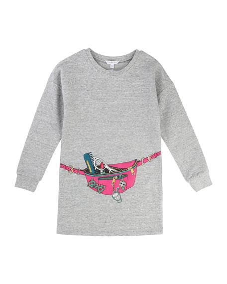 Little Marc Jacobs Essential Jersey Trompe l'Oeil Dress,
