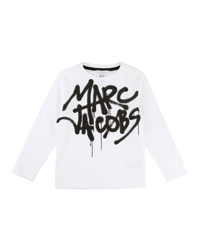 Long-Sleeve Marc Jacobs Graffiti Tee, Size 6-10
