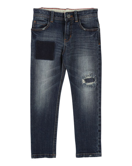 Little Marc Jacobs Cool Effects Denim Trousers, Size