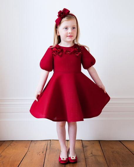 3D Flower Dress, Size 3-6