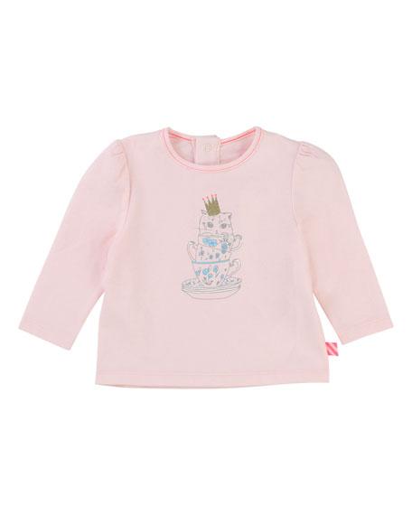 Billieblush Teacup Kitten Jersey T-Shirt, Size 12-18 Months