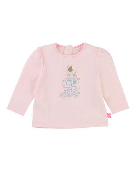 Billieblush Teacup Kitten Jersey T-Shirt, Size 2-3