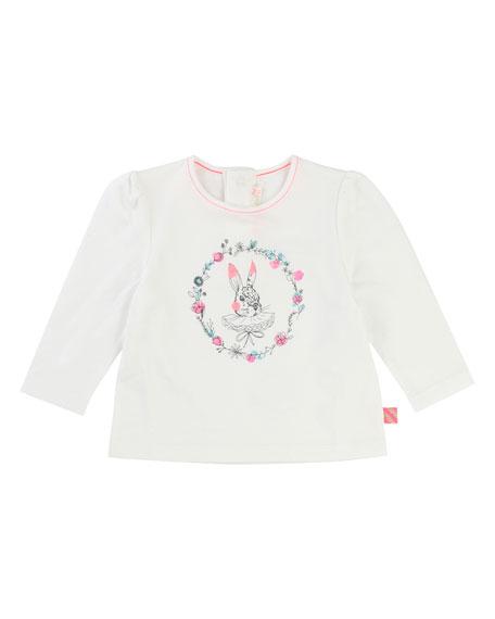 Billieblush Rabbit Jersey T-Shirt, Size 12-18 Months