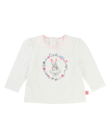Billieblush Rabbit Jersey T-Shirt, Size 2-3