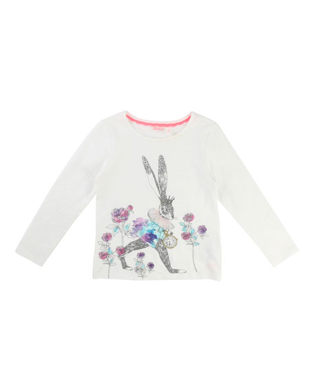 Rabbit Graphic Jersey T-Shirt, Size 4-8