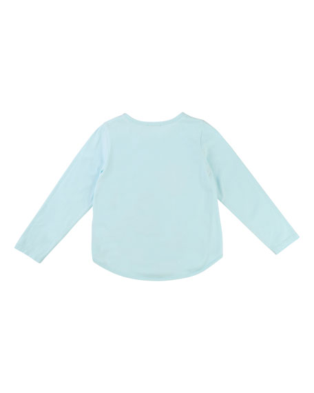Embellished Sequin Teacup T-Shirt, Size 4-8