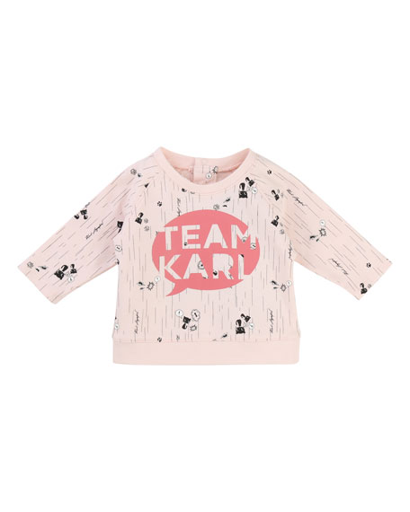 Karl Lagerfeld Team Karl Allover Print Sweatshirt, Size