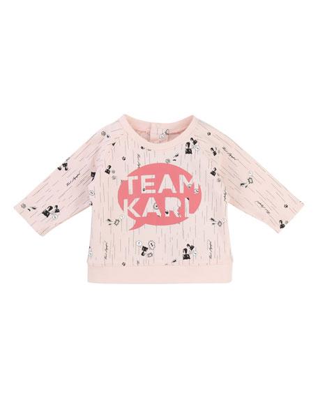 Karl Lagerfeld Team Karl Allover Print Sweatshirt, Size