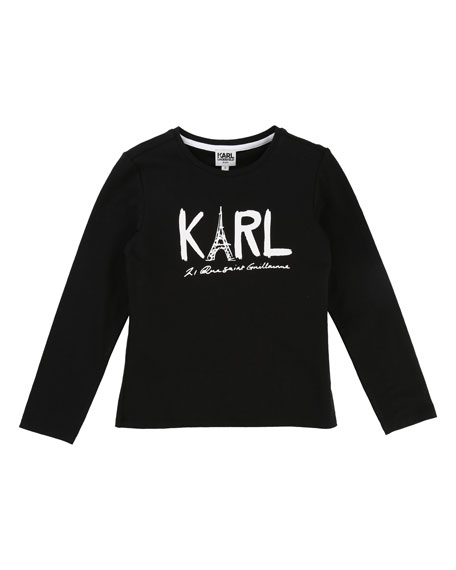 Karl Lagerfeld Karl Eiffel Tower Graphic Tee, Size