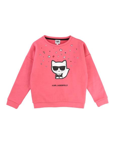 Karl Lagerfeld Cool Choupette Sweatshirt, Size 12-16