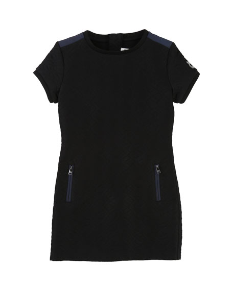 Karl Lagerfeld Quilted Dress w/ Zip Pockets, Size