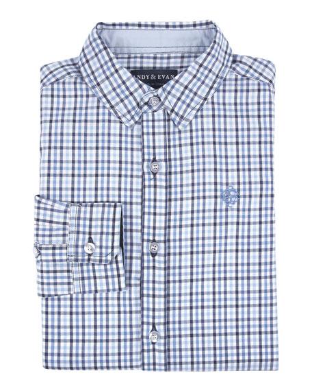Checkered Dressy Button-Down Shirt, Size 2-7