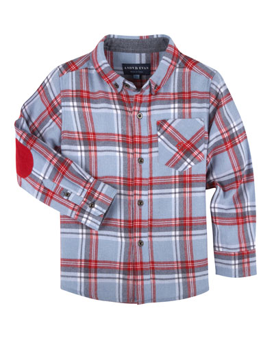Plaid Flannel Shirt, Size 2-7