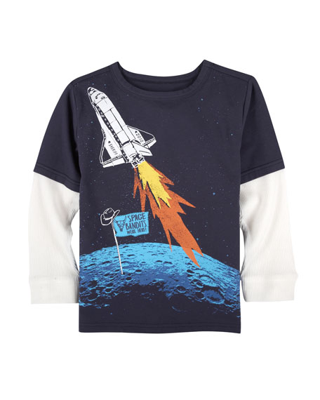 Andy & Evan Space Bandits Graphic T-Shirt, Size
