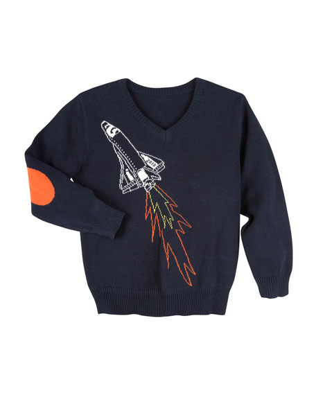Andy & Evan Spaceship Sweater, Size 3-24 Months