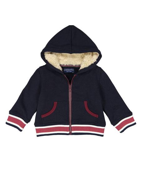 Preppy Varsity Stripe Hooded Jacket w/ Sweatpants, Size 3-24 Months