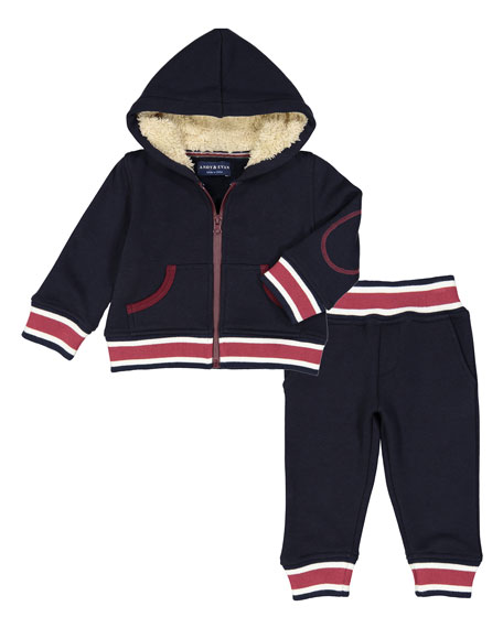 Andy & Evan Preppy Varsity Stripe Hooded Jacket