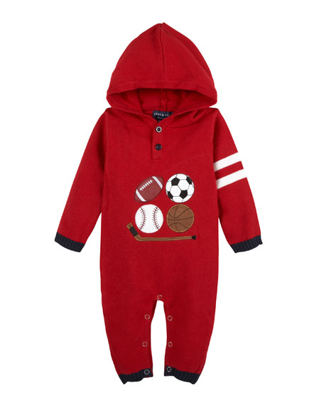 Andy & Evan Sports Hooded Coverall, Size 3-24