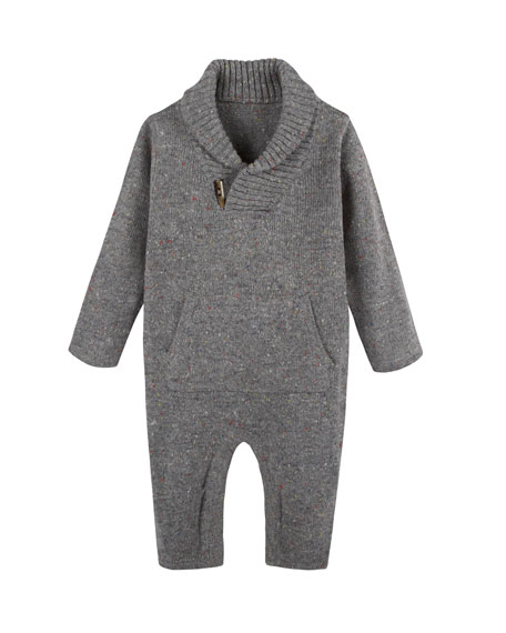 Shawl-Collar Toggle Coverall, Size 3-24 Months