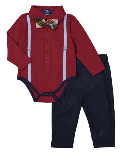 Galaxy Polo Shirtzie™ w/ Pants, Size 3-24 Months