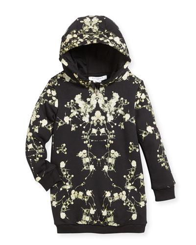 Baby's Breath Hooded Sweatshirt Dress, Size 4-5