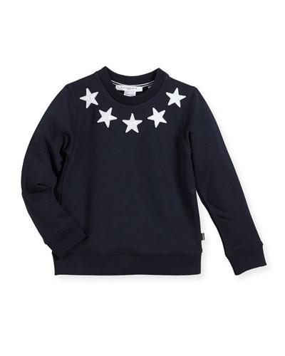 Boys' Crewneck Sweatshirt w/ Star Patches, Size 4-5