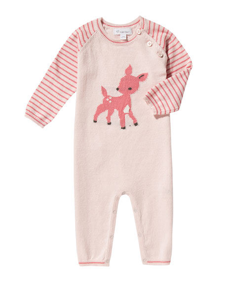 Angel Dear Knit Fawn Coverall, Size 0-12 Months