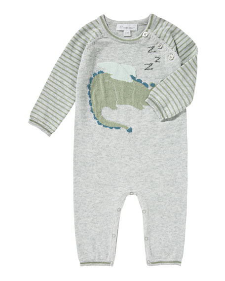 Angel Dear Sleeping Dragon Intarsia Knit Coverall, Size