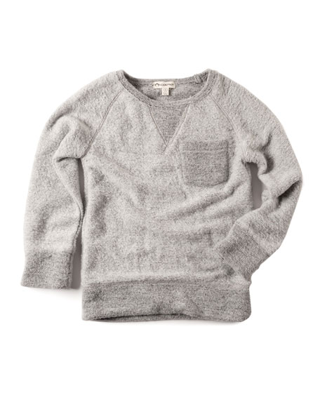 B Side Fuzzy Sweatshirt, Size 2-10