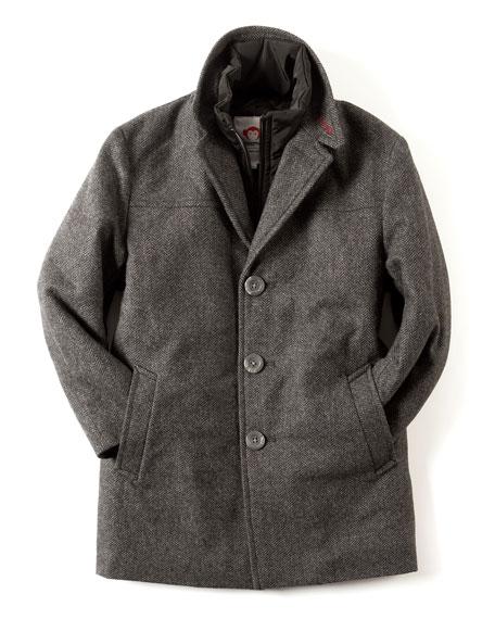 Appaman Herringbone City Overcoat, Size 2T-10