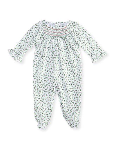 Holly N Berries Printed Footie Pajamas, Size 0-9 Months