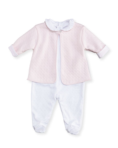 Kissy Kissy Cable Couture Footie Pajama & Jacket
