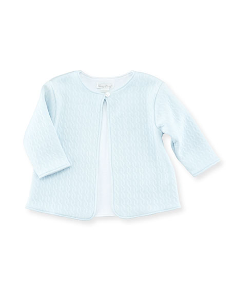 Steam Engine Footie Playsuit & Jacket Set, Light Blue, Size Newborn-9M