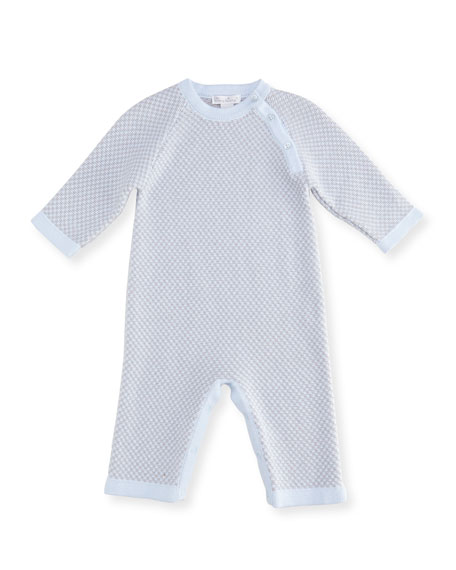 Pincheck Knit Coverall, Size 3-24 Months