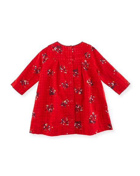 Long-Sleeve Floral-Print Dress, Size 3-36 Months