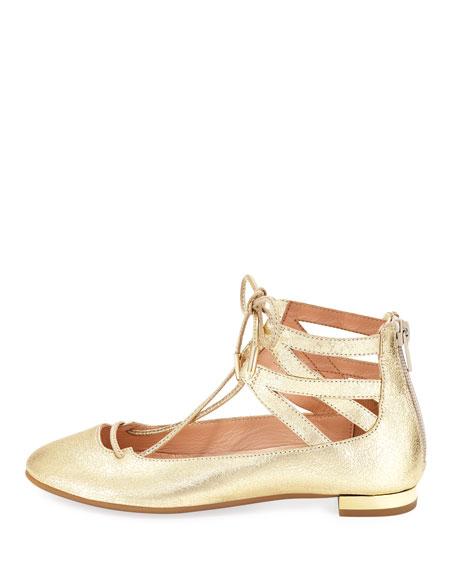 Belgravia Mini Leather Ballerina Flat, Toddler/Youth Sizes 11T-2Y