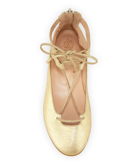 Belgravia Mini Leather Ballerina Flat, Toddler/Youth Sizes 11T-2Y