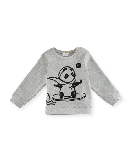 Billiebandit Space Panda Sweatshirt, Size 2-3