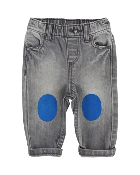 Billybandit Faded Denim Pants w/ Knee Patches, Size