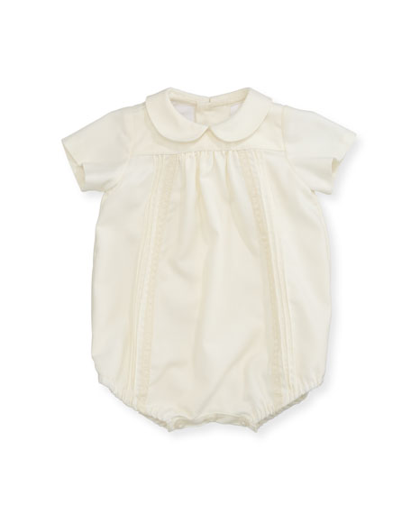 Luli & Me Pleated & Pintucked Bubble Playsuit,