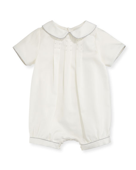 Luli & Me Pleated Bubble Playsuit, Size 3-18
