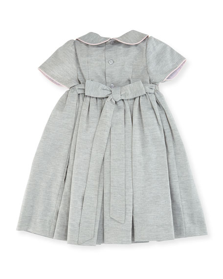 Smock Dress w/ Flower Detail, Size 2-4